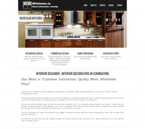AP Interiors - Multi-page Web Design