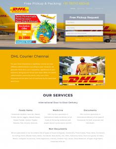 DHL Couriers - Single Page Web Design