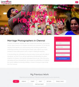 GaneshJoshi Photography - Multi-page Web Design