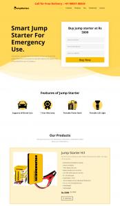 Jump Starters - Single-page Web Design