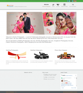 Muthra Photography - Multi-page Web Design