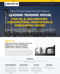 Reliant Oil - Single-page Web Design Oman