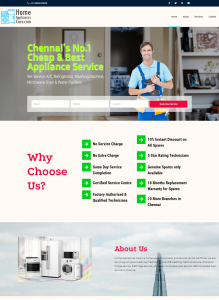 Single Page Website Designing In Chennai